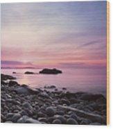 Boulder Beach Wood Print