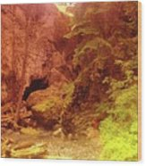 Boulder Cave  Wood Print