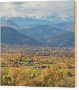 Boulder Colorado Autumn Scenic View Wood Print