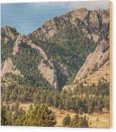 Boulder Colorado Rocky Mountain Foothills Wood Print