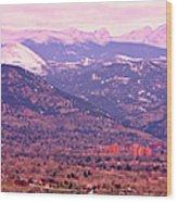 Boulder Colorado Sunrise Panorama Wood Print