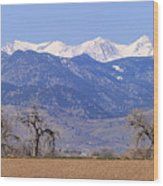 Boulder County Colorado Panorama Wood Print