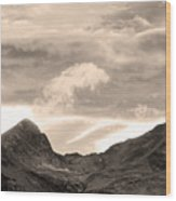 Boulder County Indian Peaks Sepia Image Wood Print by James BO  Insogna