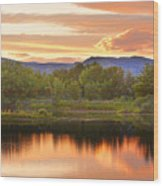 Boulder County Lake Sunset Landscape 06.26.2010 Wood Print