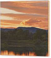 Boulder County Lake Sunset Vertical Image 06.26.2010 Wood Print