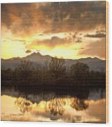 Boulder County Sunset Reflection Wood Print