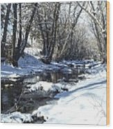 Boulder Creek After A Snowstorm Wood Print