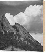 Boulder Flatirons 2 Wood Print