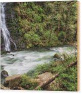 Boulder River Wood Print