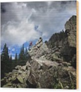 Bouldering On The Flint Creek Trail - Weminuche Wilderness Wood Print