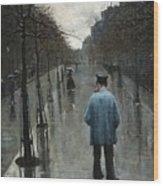 Boulevard Des Batignolles Wood Print