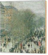 Boulevard Des Capucines Wood Print