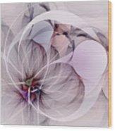 Bound Away - Fractal Art Wood Print