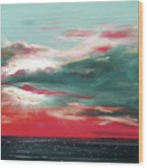 Bound Of Glory - Panoramic Sunset  Wood Print