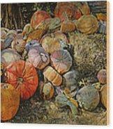 Bountiful Fall Harvest Wood Print