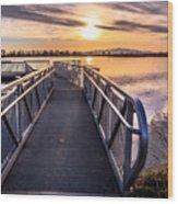 Bountiful Lake Pier Wood Print