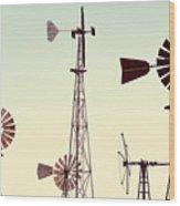 Bountiful Windmills Wood Print