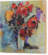 Bouquet De Couleurs Wood Print