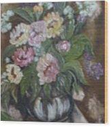 Bouquet De Fleurs Wood Print