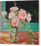 Bouquet De Roses - Marrakech Wood Print