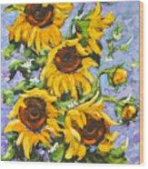 Bouquet Del Sol Sunflowers Wood Print