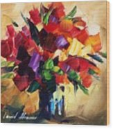 Bouquet For Sweeheart Wood Print