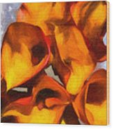 Bouquet Of Calla Lilies Wood Print
