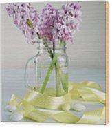 Bouquet Of Hyacinth Wood Print