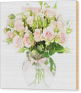 Garden Roses  Wood Print