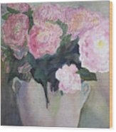 Bouquet Of Pink Peonies Wood Print