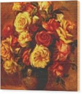 Bouquet Of Roses 1 Wood Print