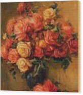 Bouquet Of Roses 1900 Wood Print