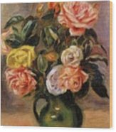 Bouquet Of Roses 2 Wood Print