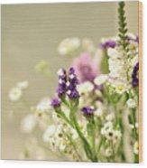 Bouquet Of Wildflowers Wood Print