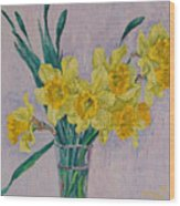 Bouquet Of Yellow Daffodils Wood Print