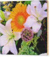 Bouquet Softly There Wood Print