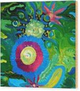 Bouquet Tropical Wood Print