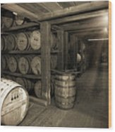Bourbon Rickhouse Wood Print