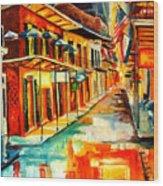 Bourbon Street Blitz Wood Print