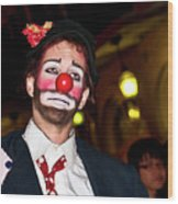 Bourbon Street Clown Mime Wood Print