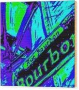 Bourbon Street In Blue Wood Print