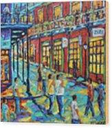 Bourbon Street New Orleans By Prankearts Wood Print