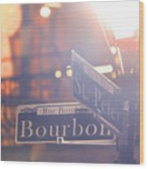 Bourbon Street New Orleans La Wood Print