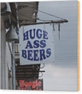 Bourbon Street Signs Wood Print