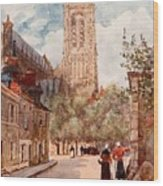 Bourges Wood Print