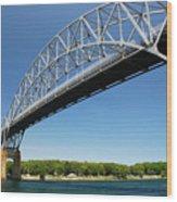 Bourne Bridge  Cape Cod Wood Print by Mark Wiley