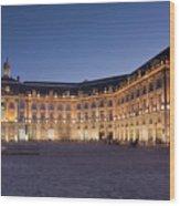 Bourse Square, Bordeaux Wood Print