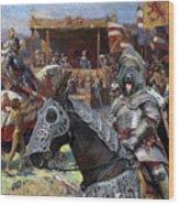 Bouvier Des Flandres - Flandres Cattle Dog Art Canvas Print - Knights Tournir Wood Print