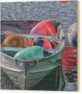 Bouys In A Boat Wood Print