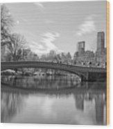 bow bridge central park N Y C Wood Print